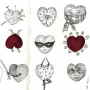Florence Plissart, illustration, illustration coeurs, dessin coeurs, coeurs personnifiés, personnage forme coeur