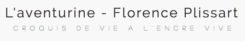 aventurine, florence plissart, logo, croquis de vie