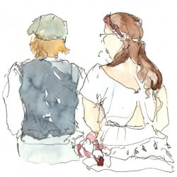 Florence Plissart, croquis mariage, reportage dessin mariage, dessins de mariage, dessinateur mariage, album mariage, album dessiné, reportage croqué, cadeau mariage original